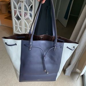 Navy and white Ralph Lauren tote bag